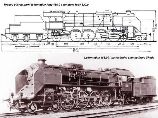 Typovy Vykres Lokomotivy Rady 486 0 Zdroj Encyklopedie Zeleznice