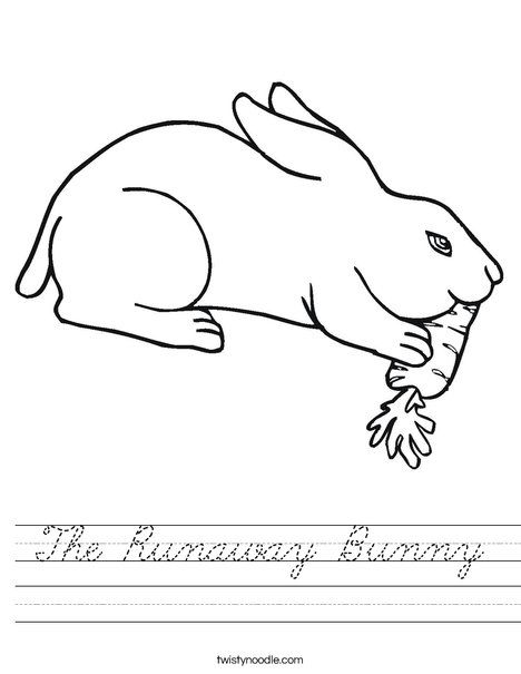The Runaway Bunny Worksheet Bunny Coloring Pages Animal Coloring Pages Puppy Coloring Pages