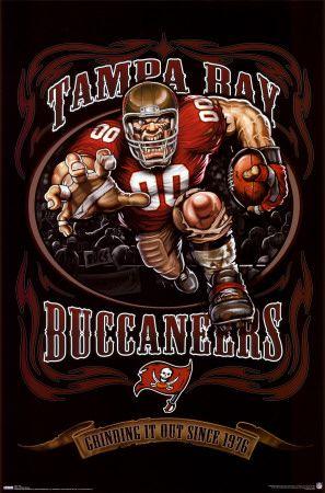 9ce9284b1 Tampa Bay Buccaneers Mascot poster