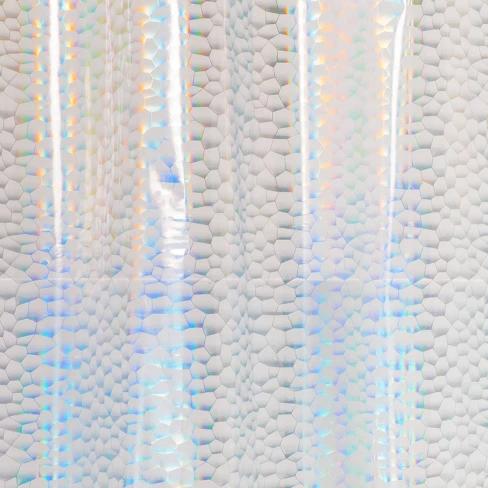 peva shower curtain iridescent room