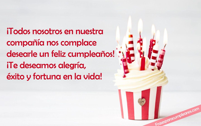 Deseos De Felicitaciones De Cumpleaños Formales Frases