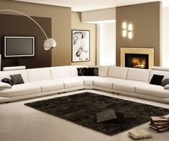 Italian Leather Sectional Sofa Furniture In White Features L