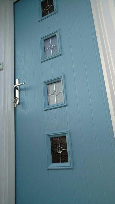 Duck Egg Blue Composite Front Door Fitted In Nottingham