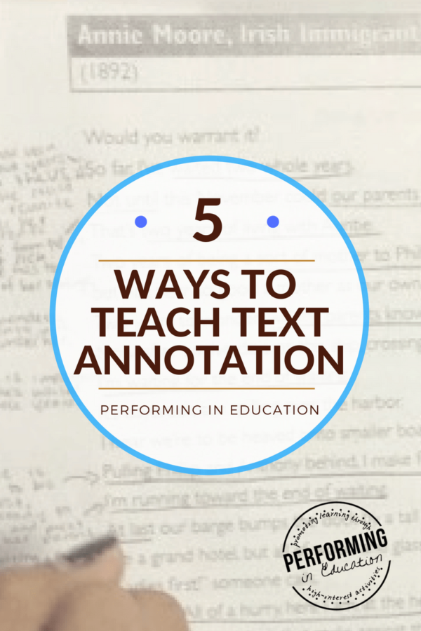 """Annotate the Text 5 Concrete ideas for teaching text annotation is part of Close reading strategies middle school, Close reading strategies, Annotating text, Reading summary, Reading strategies, Close reading - I jumped on the """"close reading"""" bandwagon pretty early on, so I've had a lot of time to try it and reflect back on my complete and utter failures using it  And there have been failures, trust me  In my first lesson using it, I had a student underline every single word on the page …"""