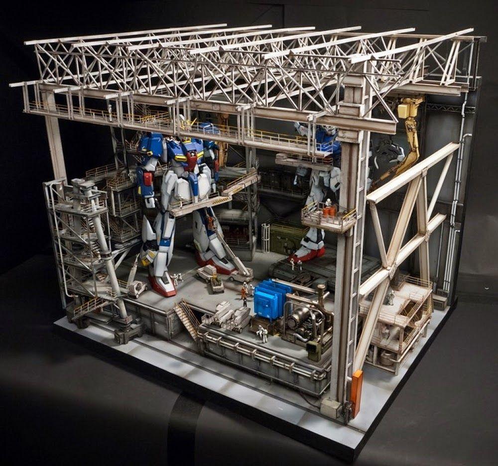 Custom Build 1/60 Gundam Assemble Plant / Hangar Diorama