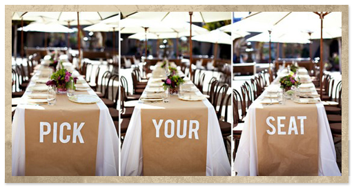 Butcher Paper Over White Tablecloth Or Navy Mint Gold