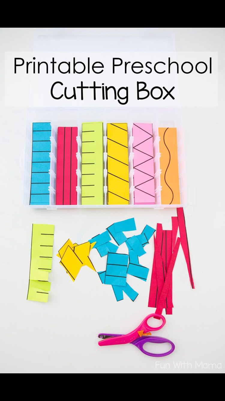 Printable Preschool Cutting Practice
