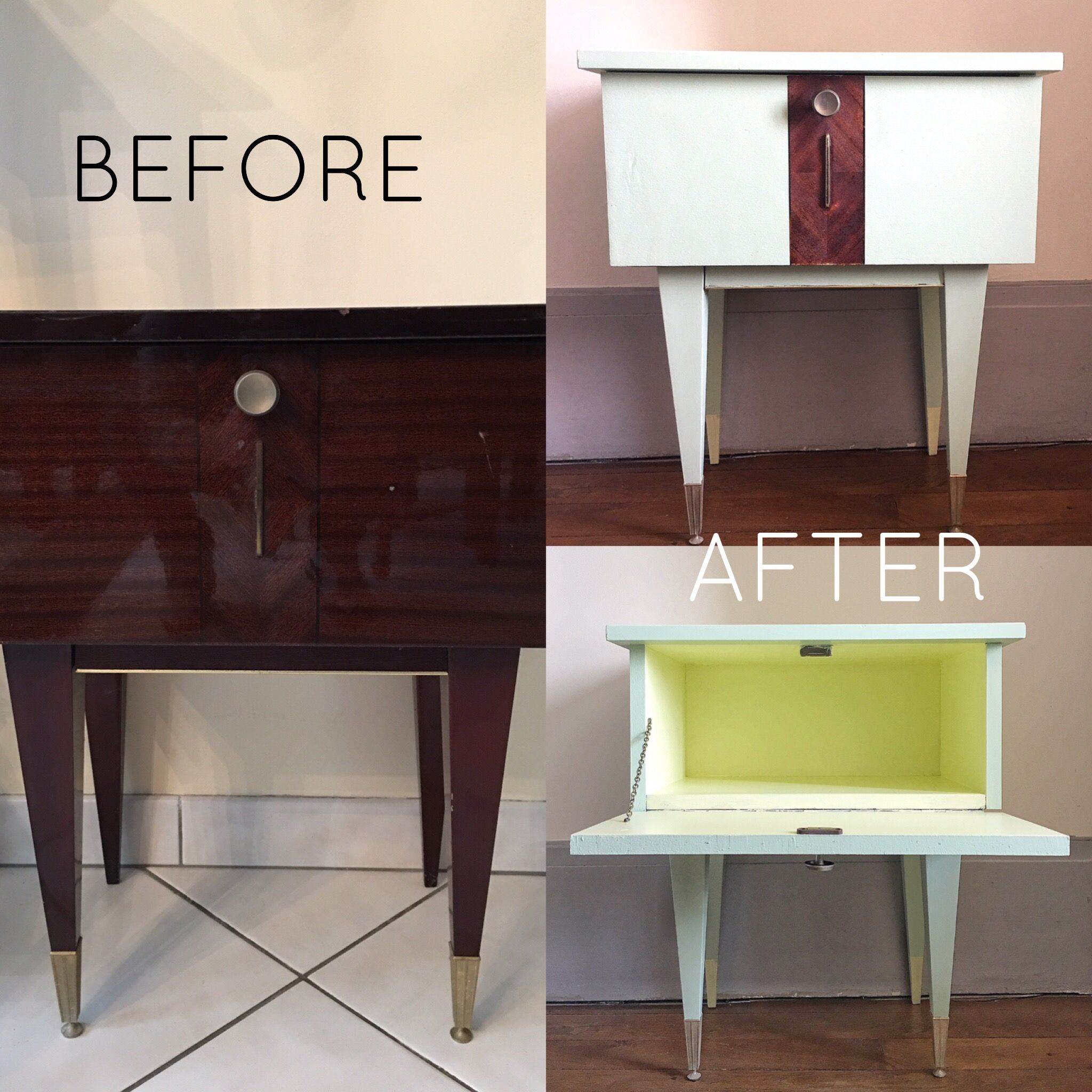 furniture do it yourself. Table De Chevet, DIY, Do It Yourself, Furniture, Restauration, Mid Century Furniture Yourself D