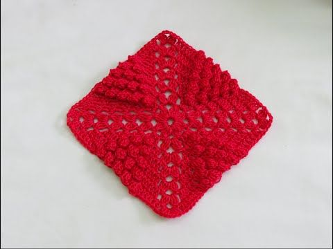 كروشيه مربع | 5 | Crochet Granny Square - YouTube