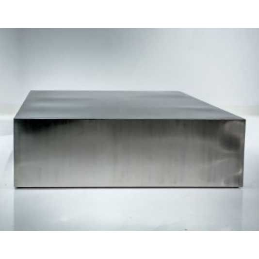 Mobital Occasional Pcs Enix Coffee Table In Brushed Stainless Steel