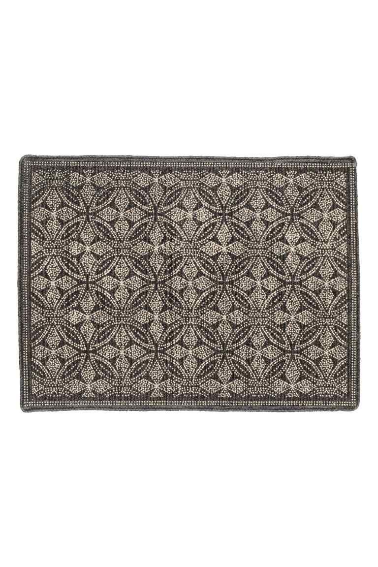 Tapis Salle De Bain H&M ~ tapis de bain motif tapis de bain tapis et gris