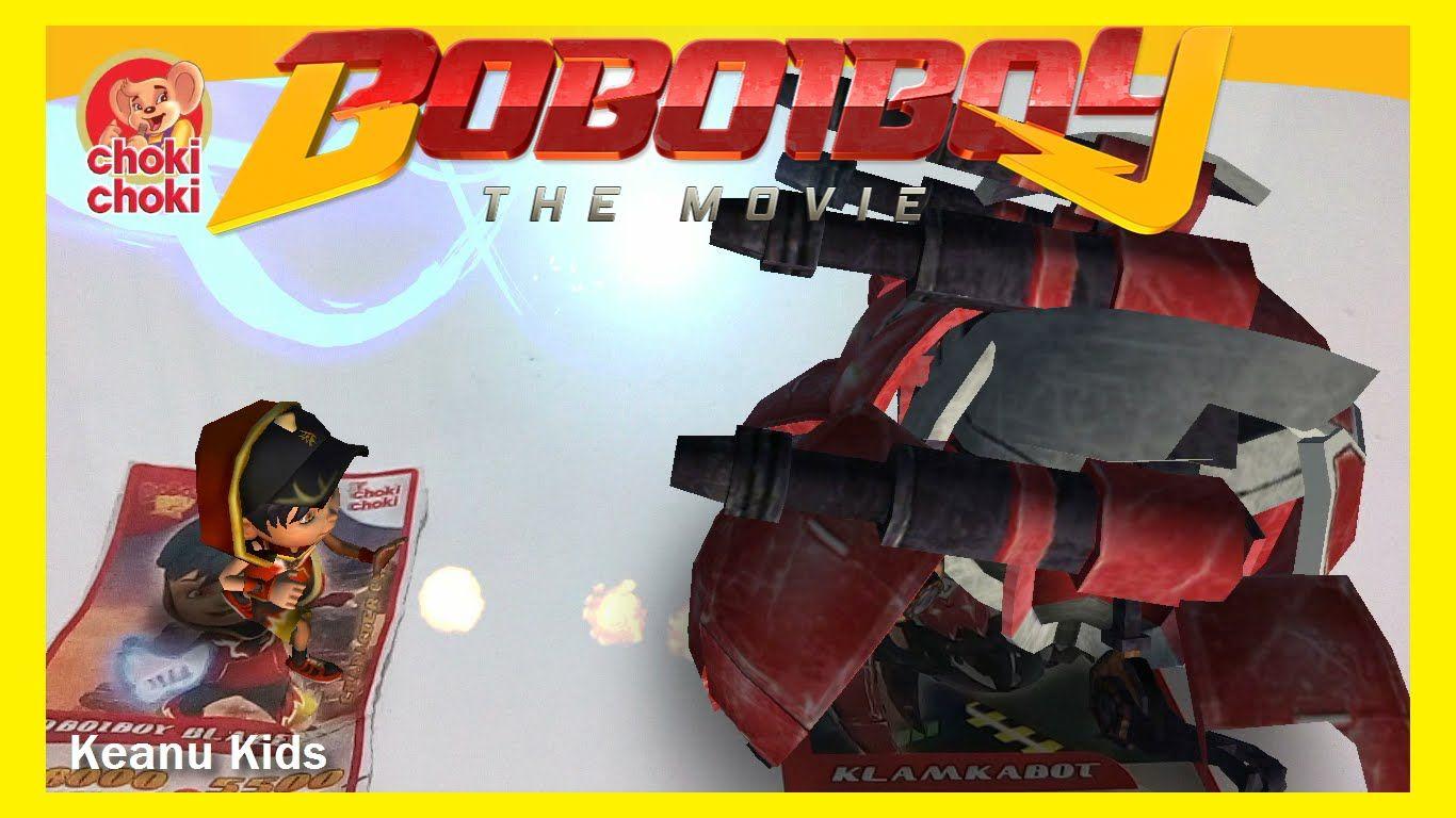Boboiboy Blaze vs Boboibot kuasa 5 dan Klamkabot Teman