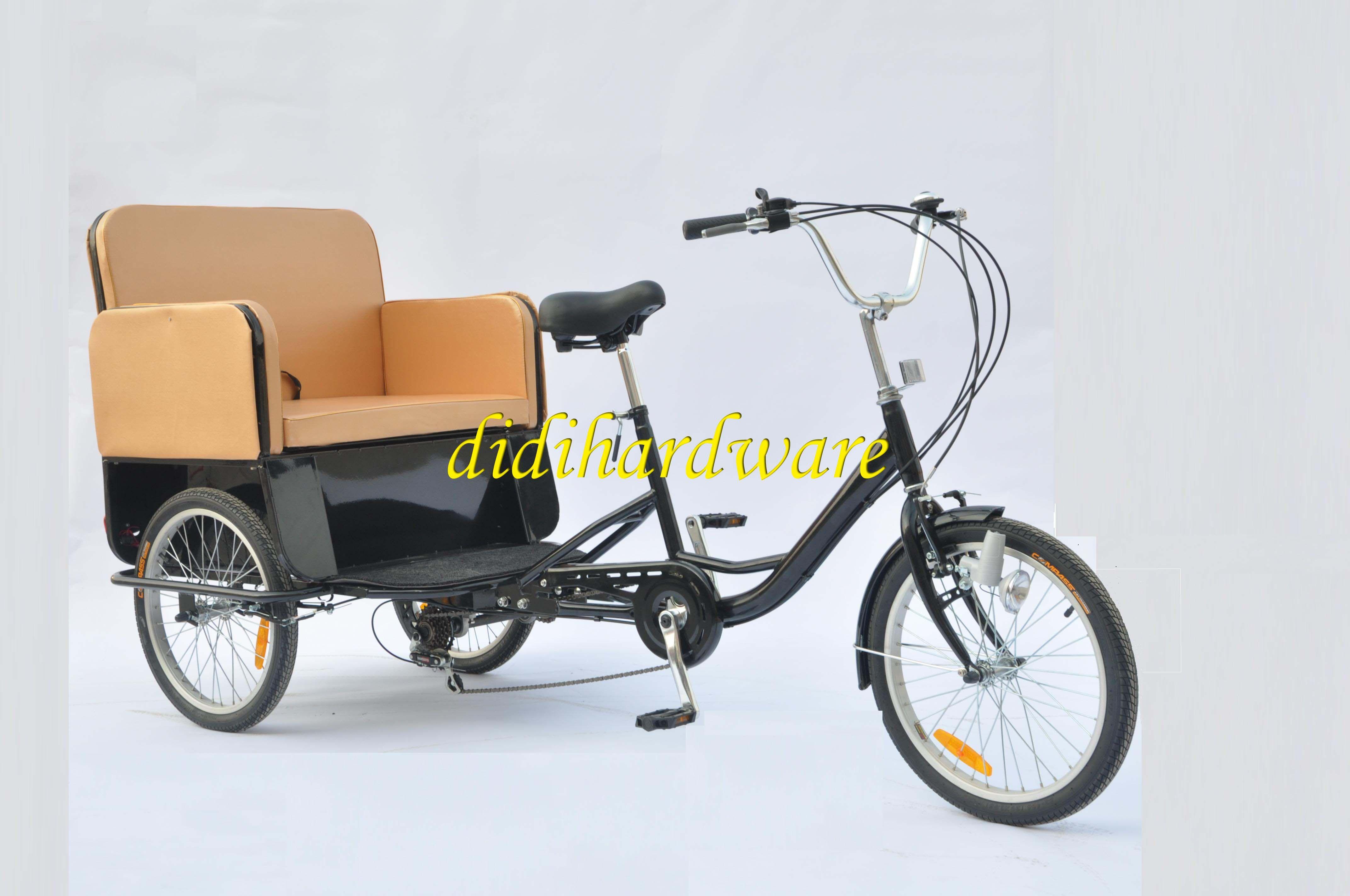 Brand New Rickshaw Pedicab Tricycle Bicycle Adult 6 Gear