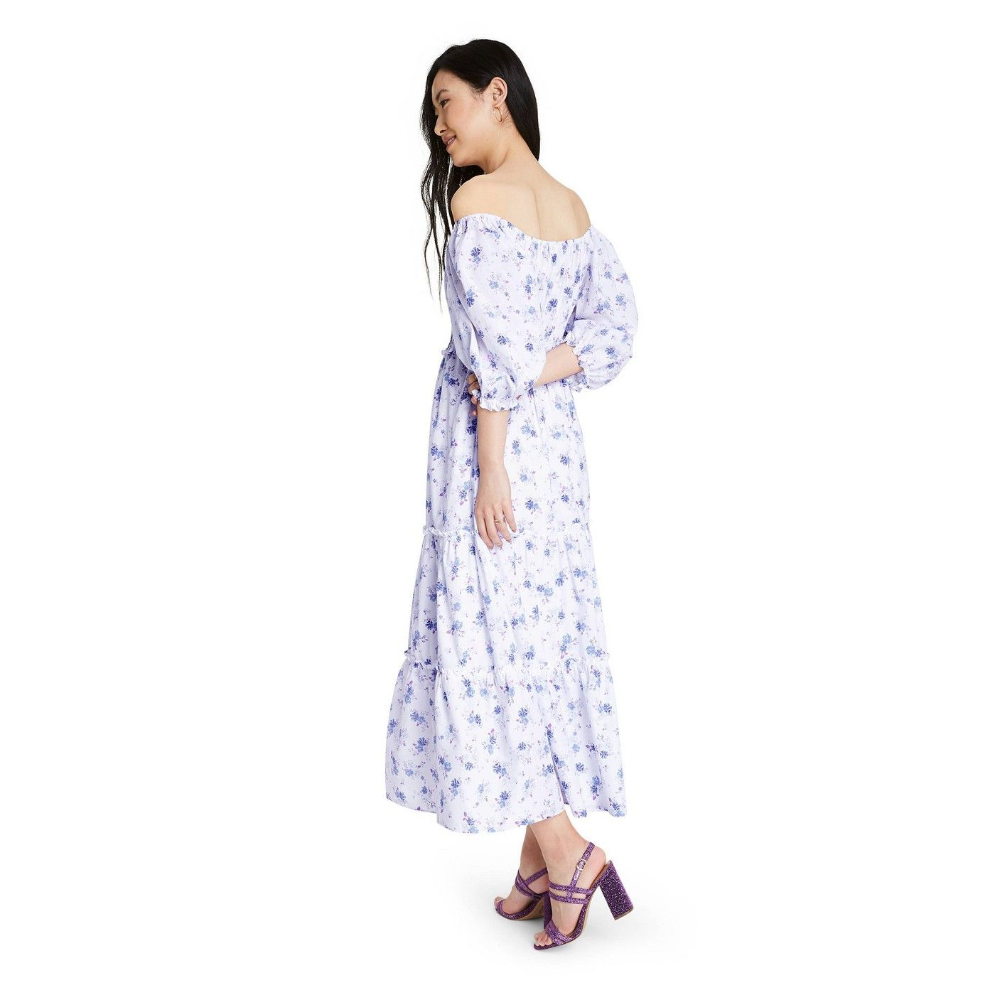 Women S Gemma Puff Sleeve Dress Loveshackfancy For Target Regular Plus White Blue Spon Puffed Sleeves Dress Maxi Dress With Sleeves Dresses With Sleeves [ 1400 x 1400 Pixel ]