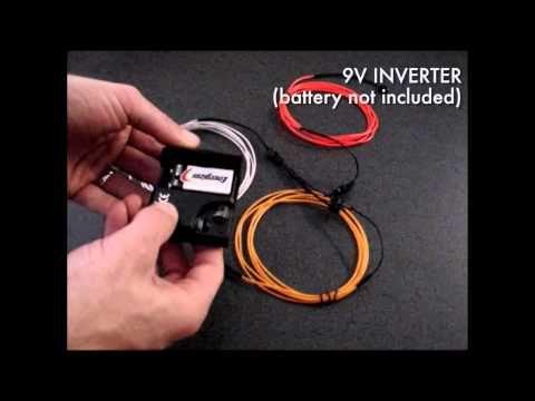 El wire inverter v battery powered craft ideas
