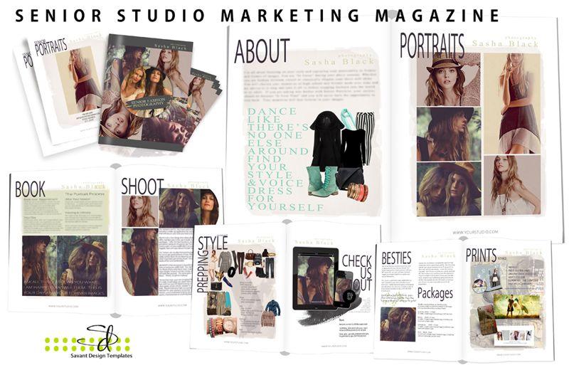 Photography Template - New Senior Studio Marketing Magazine - magazine storyboard