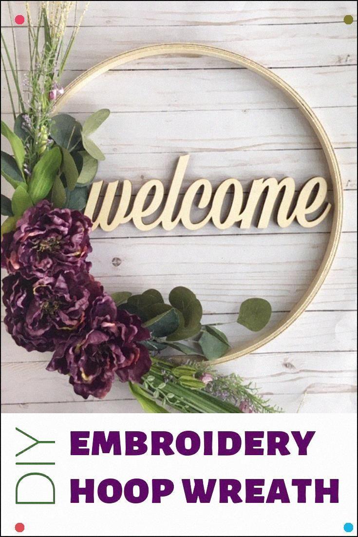 Photo of Diy Embroidery Hoop Wreath #Embroideryhoops #Embroideryhoopwreath #Diywreath #Sp …
