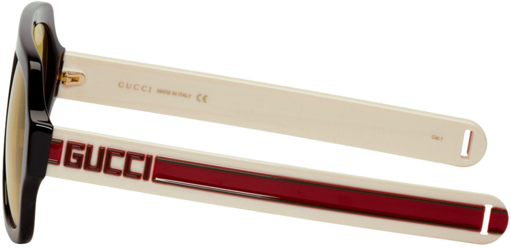 8424ae327a8 Gucci - Black   Yellow Sport Sunglasses