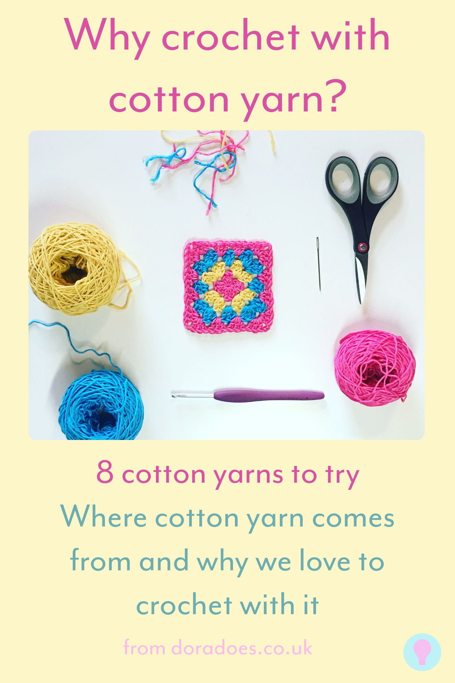 Focus On Fibre Working With Cotton Yarn Dora Does Crochet