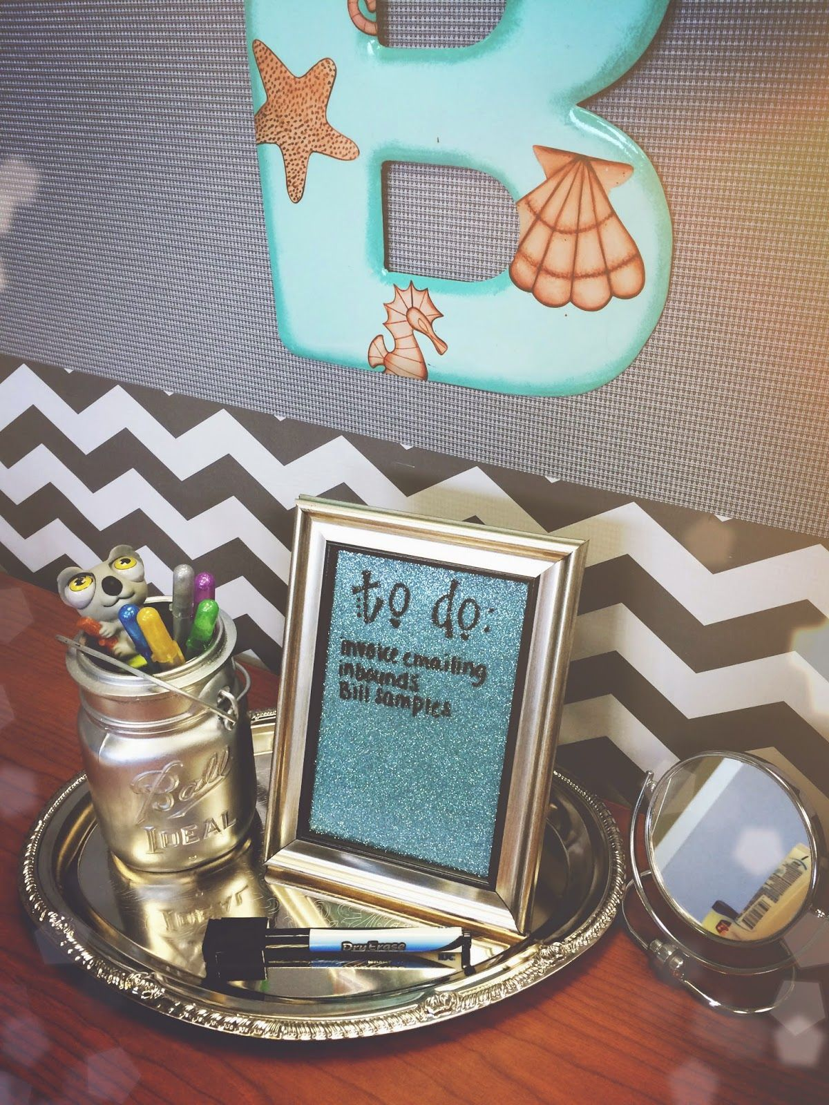 decorate office cubicle. Cubicle Decorating DIY $2 Desktop Dry Erase Board For Office Work Space Desk Decor Decorate