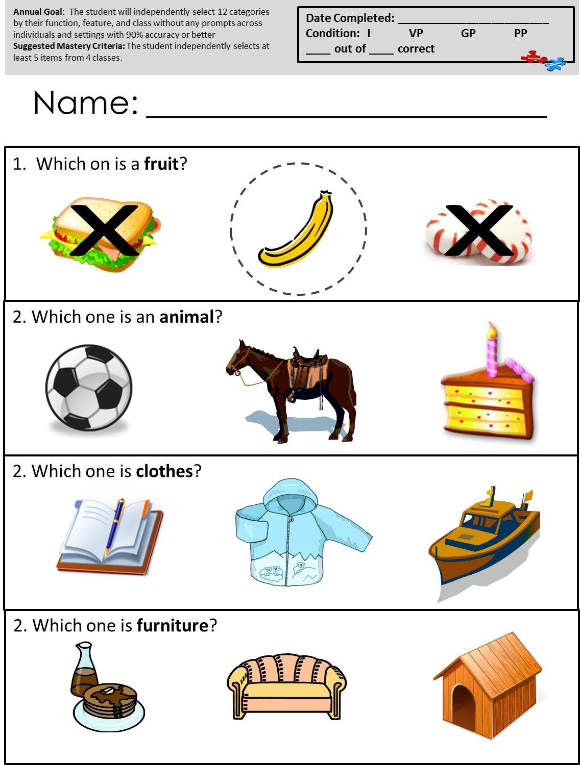 Free Printable Worksheets For Autism Classrooms! Available ...