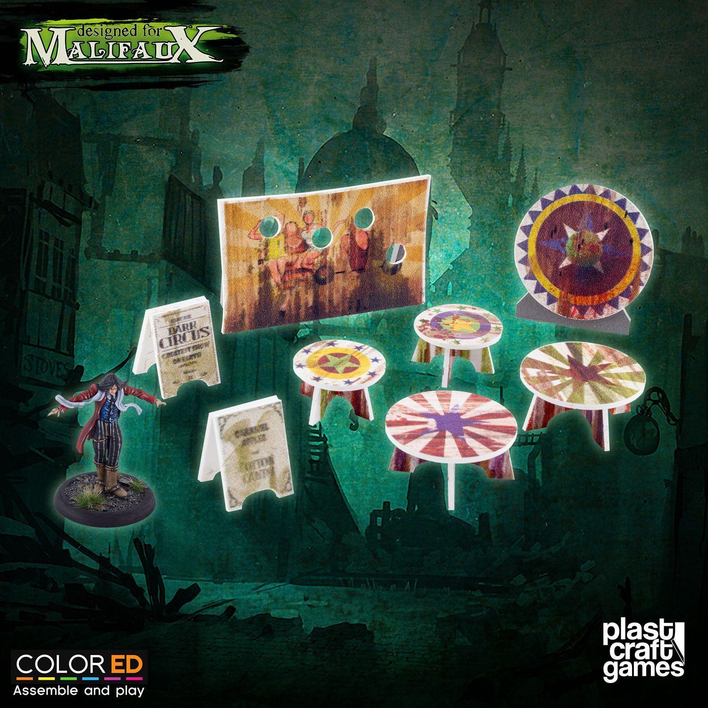 Plast Craft ColorED Malifaux Terrain Circus Prop Set