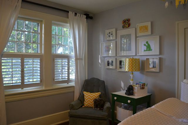 E, Myself, and I: Gray and Yellow Nursery Reveal
