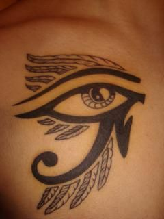 Eye of ra or eye of horus symbol of health and well being for Eye of horus temporary tattoo