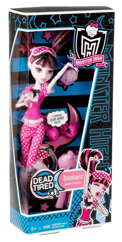 DRACULAURA - DEAD TIRED SET  Mattel Monster High Dead Tired Draculaura Doll: Amazon.co.uk: Toys & Games