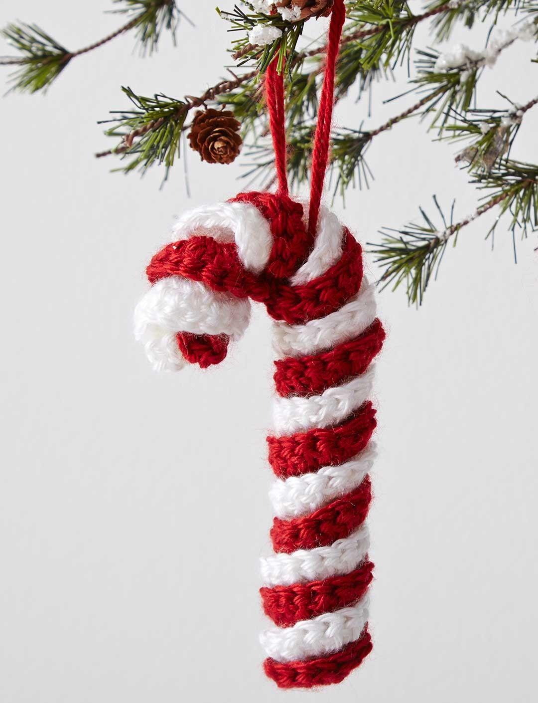 Crochet Candy Cane Ornament | CROCHET | Pinterest | Navidad, Tejido ...