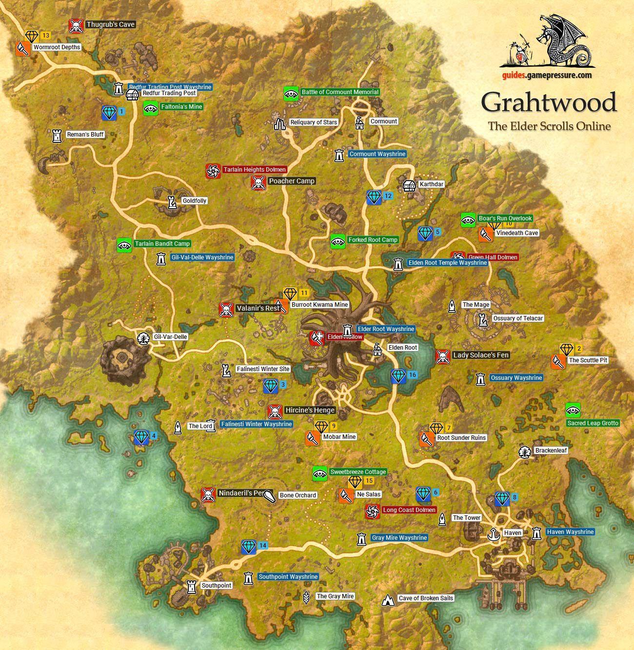 The Elder Scrolls Online Grahtwood Elder scrolls