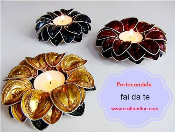Diy candle holders with recycled coffee capsules solutioingenieria Images