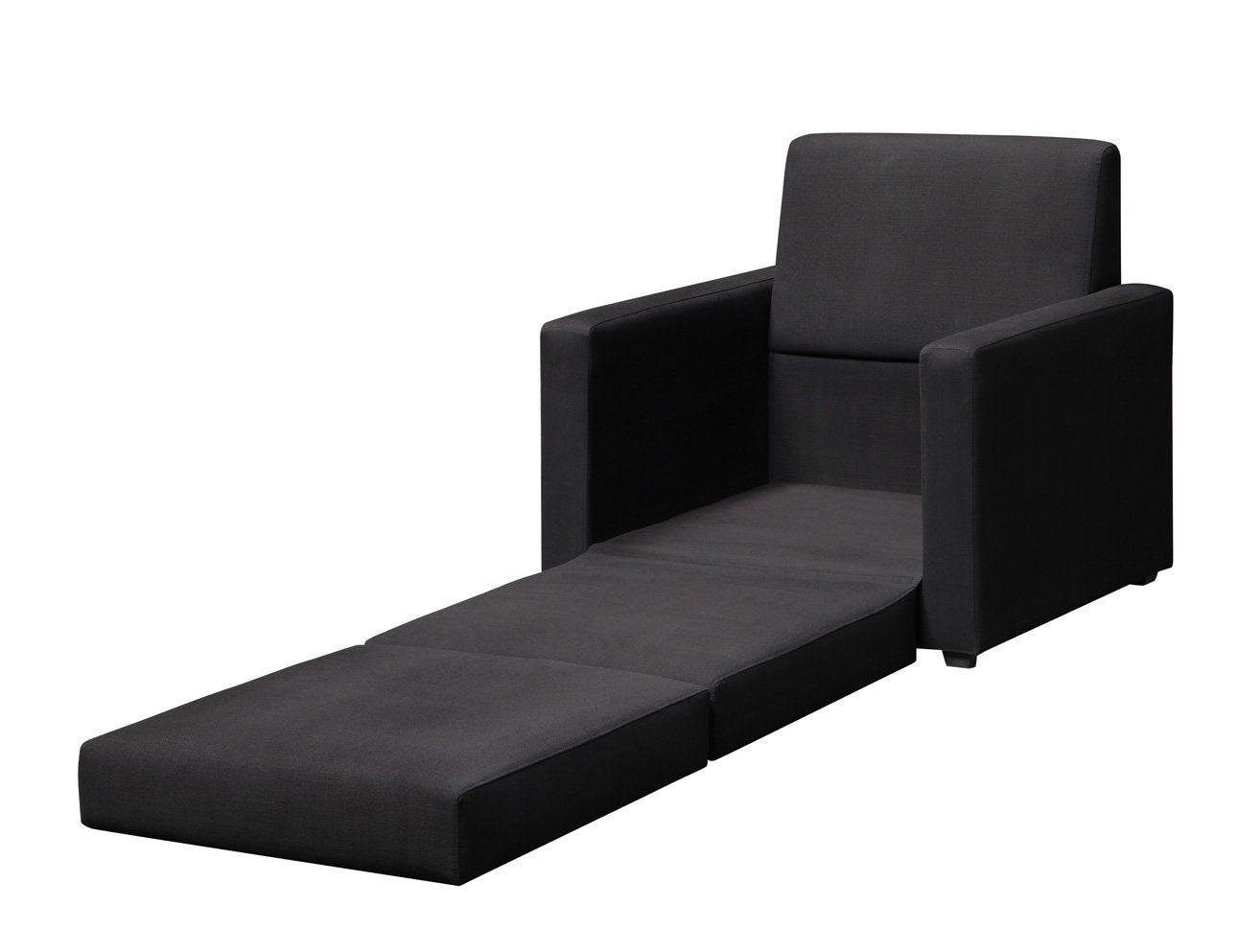 single sleeper chair oversized wingback amazon com dorel home products black sofa