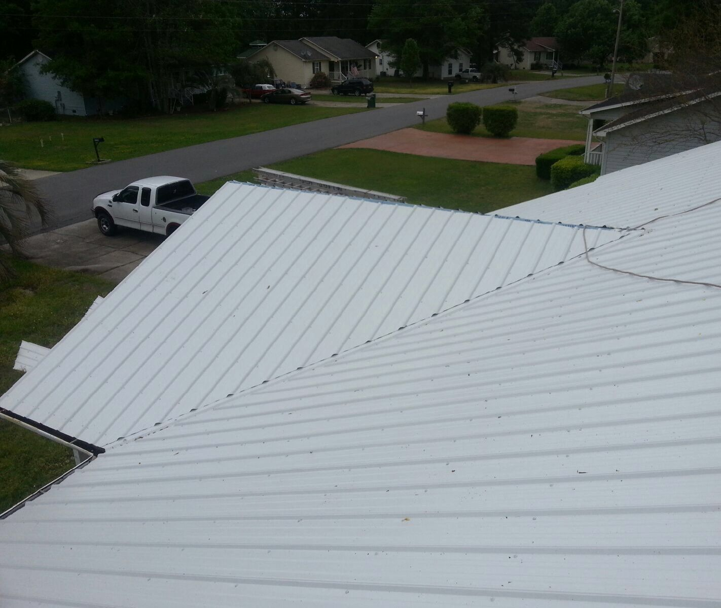 Seafoam White Master Rib Metal Roof Panels Pawleys