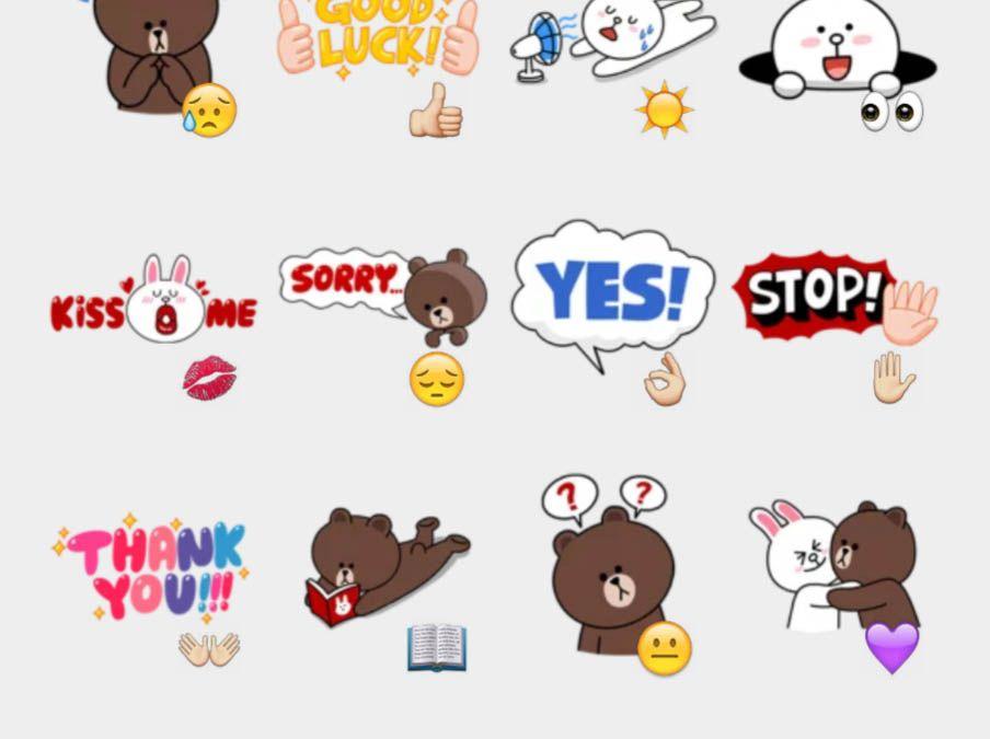 Brown & Cony Stickers Set | Telegram Stickers