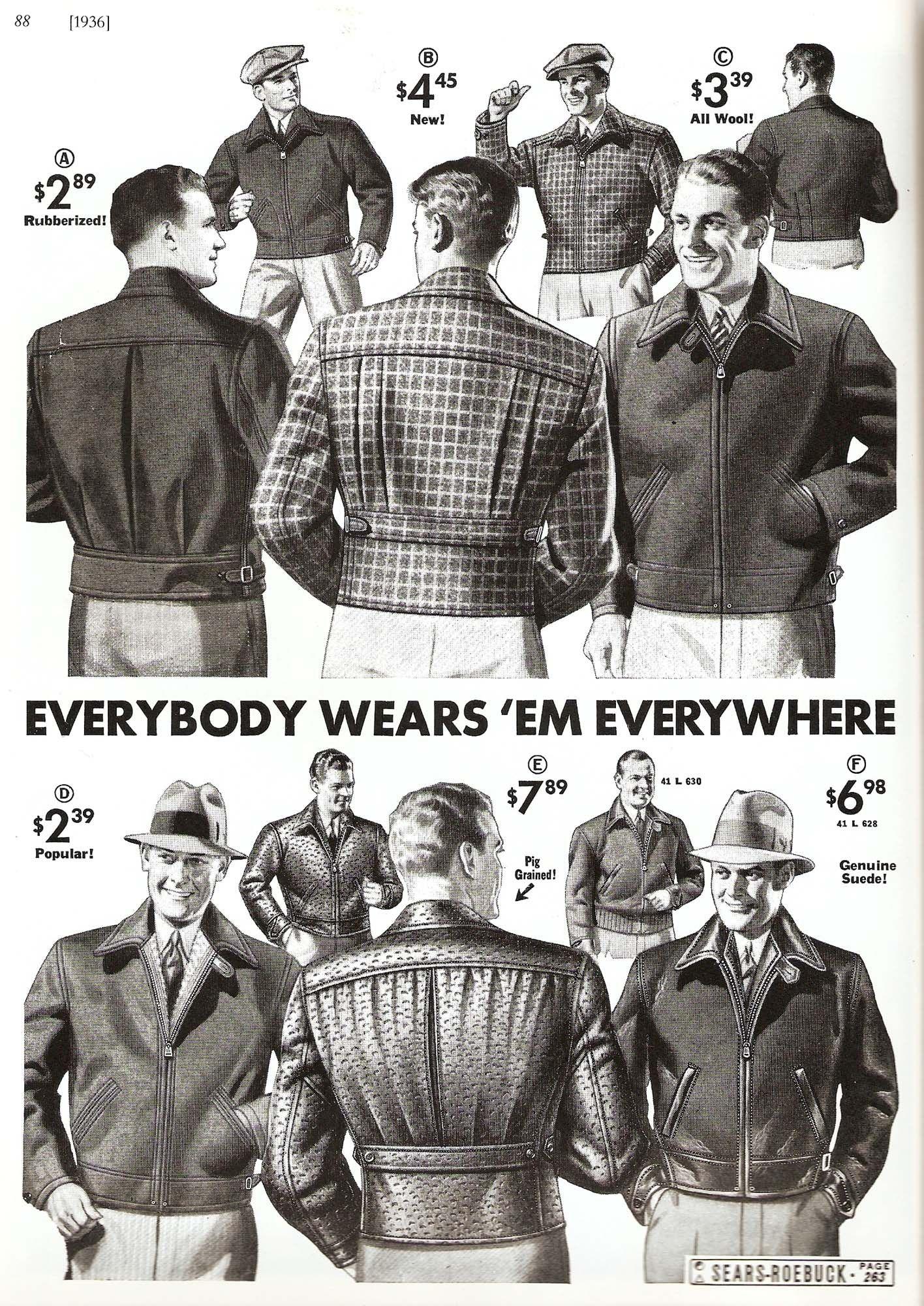 2c42290b 1936 Sears Catalog - nice details on the jackets | 30s Fashion ...