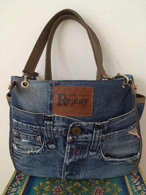 jeans taschen schnittmuster pinterest jeans tasche jeans und stofftaschen. Black Bedroom Furniture Sets. Home Design Ideas