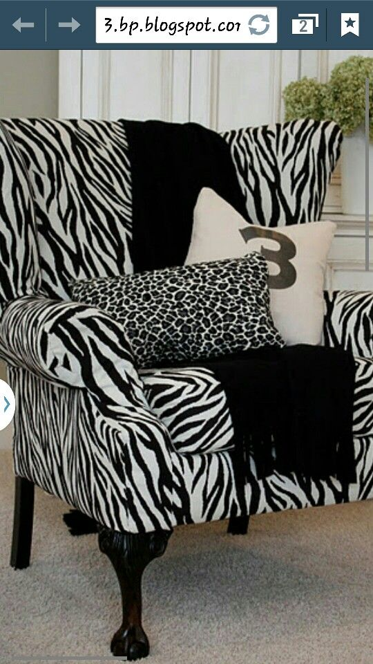 zebra print love it home decor pinterest diy furniture rh pinterest com