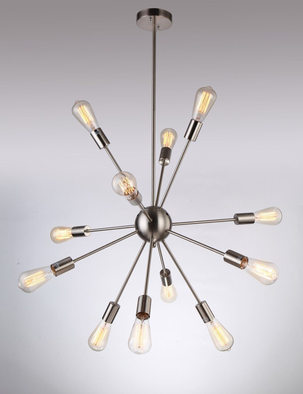 Deking 12 Lights Pendant Light Black Modern Satellite Style ...