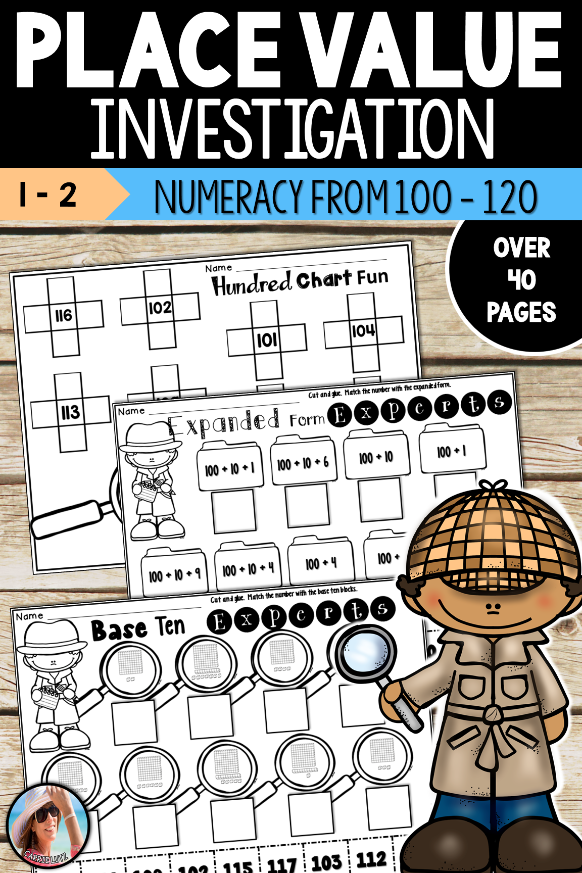Place Value Worksheets 3 Digits 100 To 120 Hto