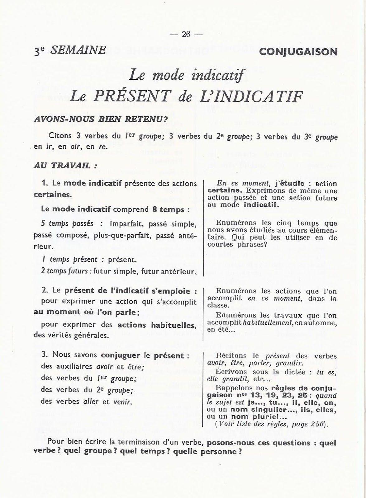 Berthou Gremaux Voegele Grammaire Cours Moyen 1951 Grandes Images En 2020 Education Mathematique Grammaire Indicatif Present