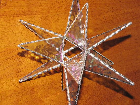 Stained Glass  Clear Textured Iridescent Moravian by GLASSbits, $52.00