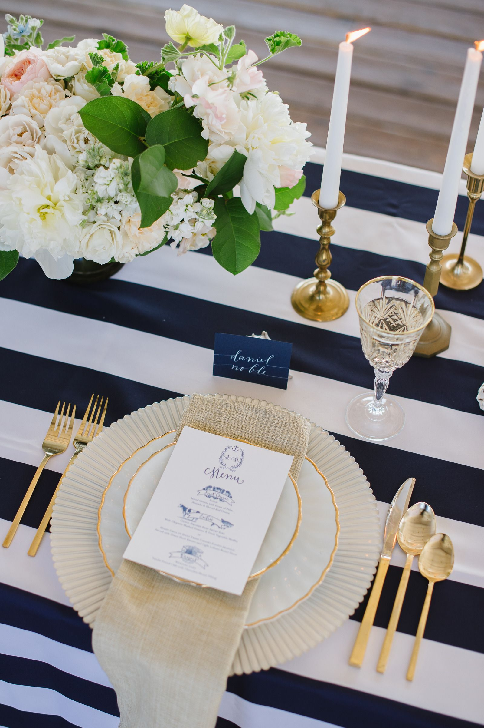 Nautical Table Settings Coastal Glamour A Nautical Inspired Photo Shoot Tablecloths
