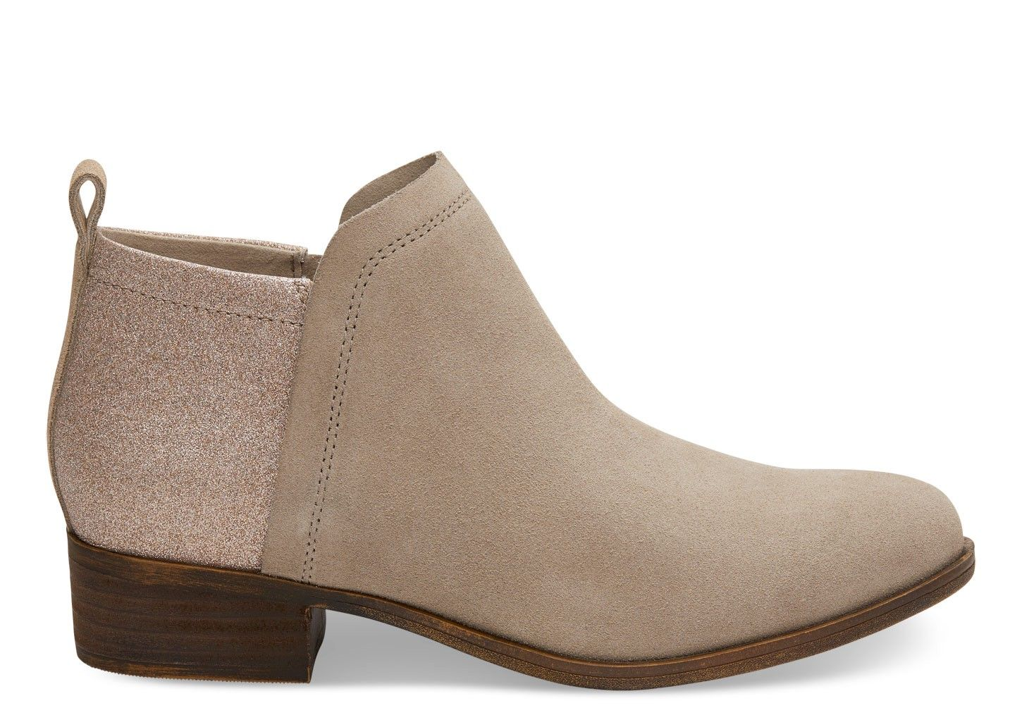 9df438044dd TOMS TOMS Oxford Tan Suede And Glimmer Women s Deia Booties.  toms  shoes