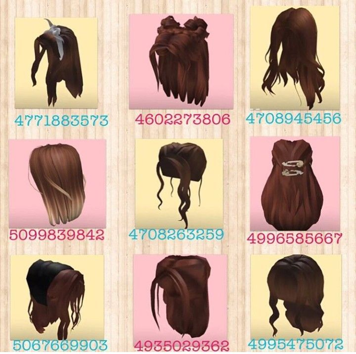 Not Mine Owner Mabelu Games More Brunette Hairstyles Pt 1 In 2020 Roblox Codes Roblox Pictures Custom Decals