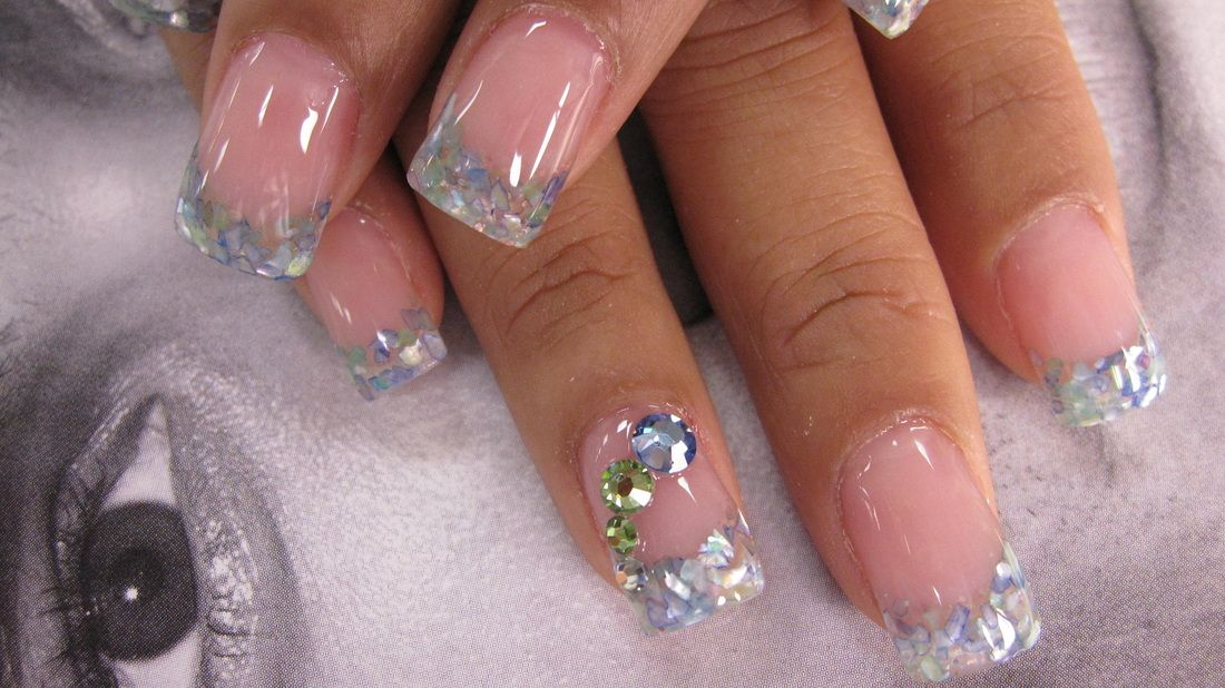 Crushed Sea Shell Nails Style Nails Magazine Seashell Nails Design