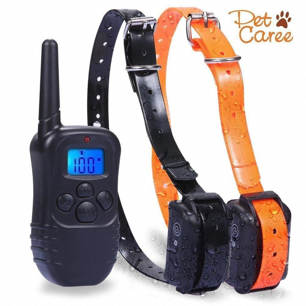 Dog Training Collar 330 Yards Rechargeable Remote Collar For 2