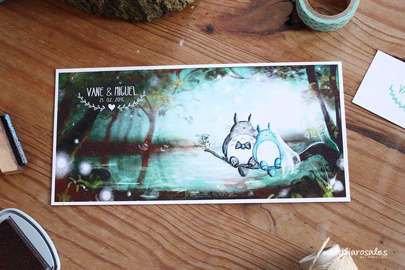 Totoro wedding invitation