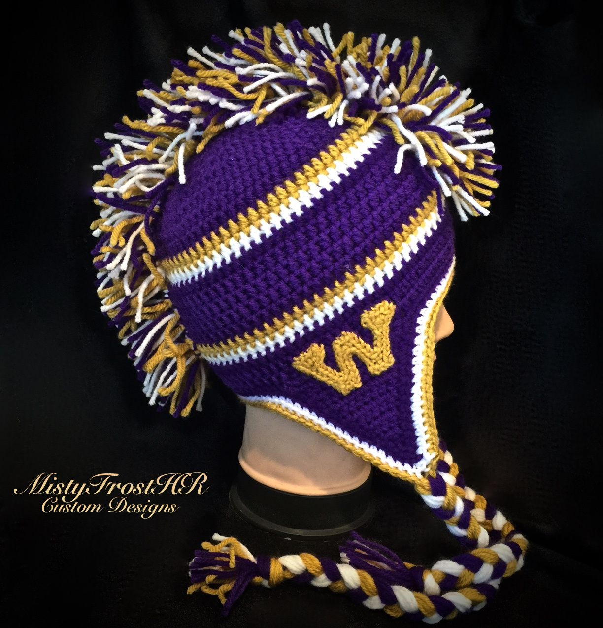 Crochet Washington Huskies Mohawk Hat - $35. Available only at www ...