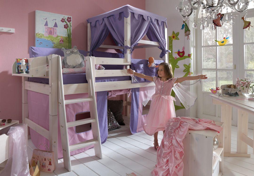 Vorhang Etagenbett Kinder : Spielbett trecker grün beige weiß mit vorhang jelle möbel